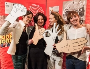 Foto: Facebook Hands Up for Festival Cement. Van links naar rechts: Lotte Weijers, Wendy Lubberding, Maaike Schuurmans, Anne van de Wetering
